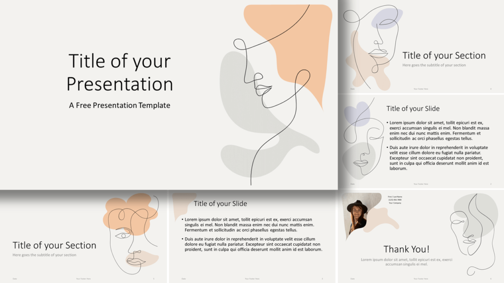 Free Portraits Template for Google Slides and PowerPoint