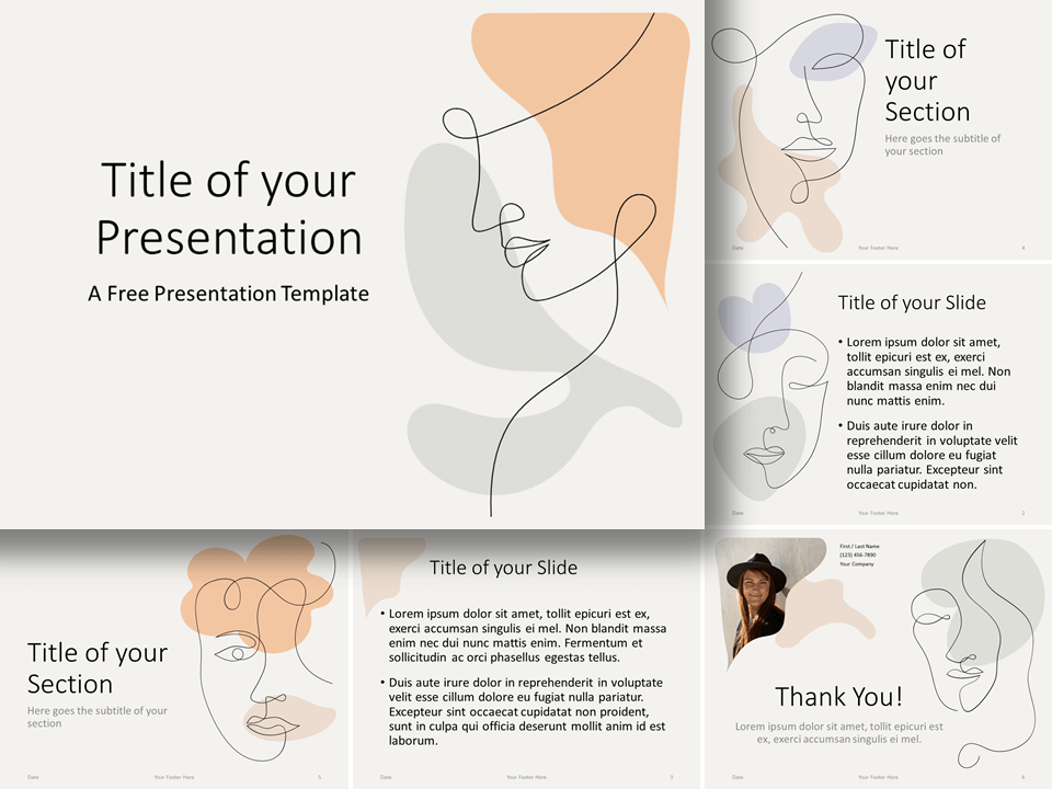 Free Portraits Template for PowerPoint and Google Slides
