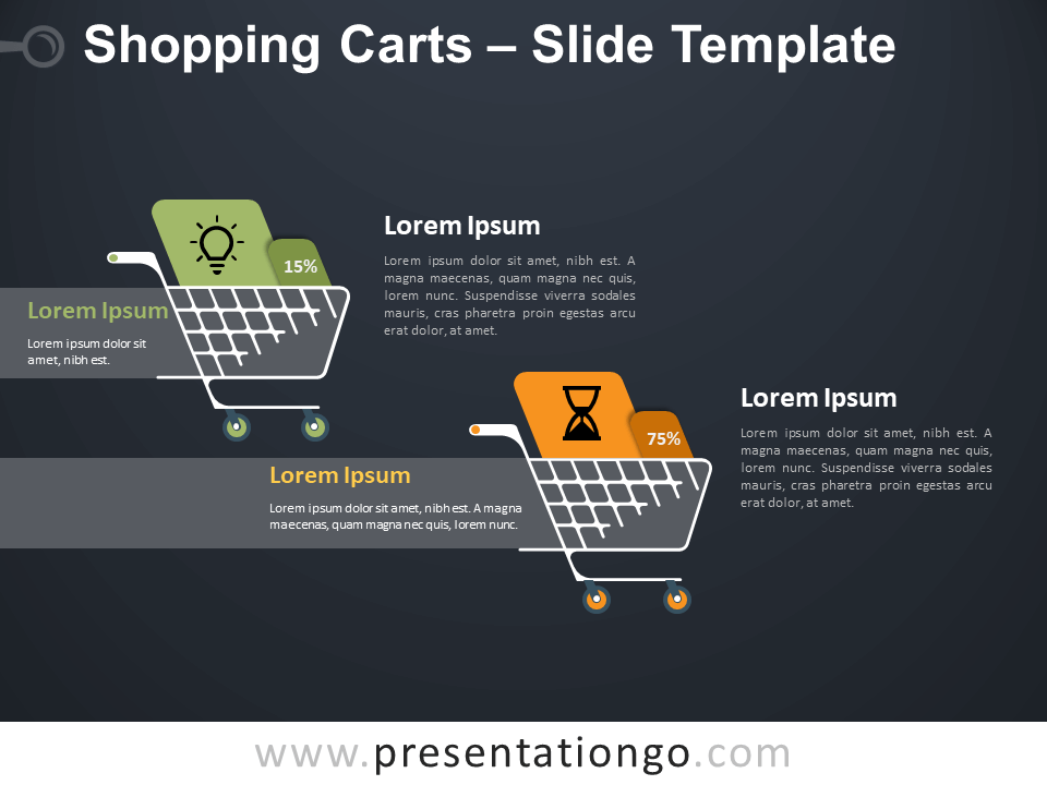 Free Shopping Carts Infographics for PowerPoint