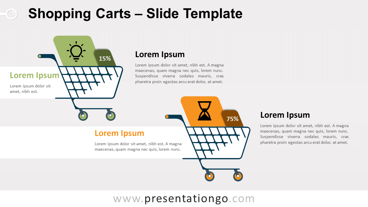 Free Shopping Carts for PowerPoint and Google Slides