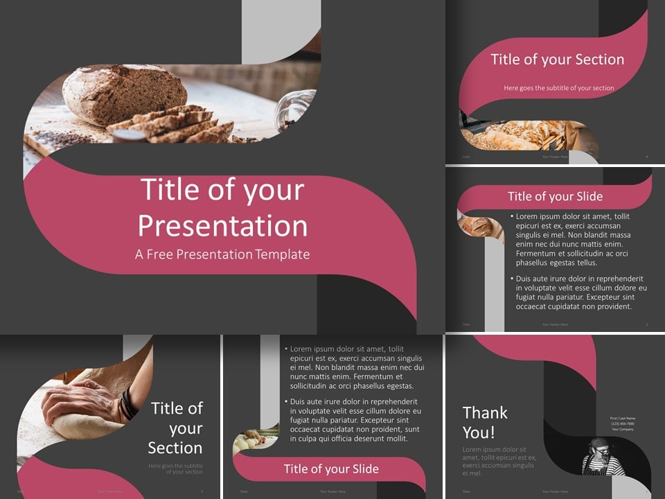 Free Twisted Strip Template for PowerPoint and Google Slides