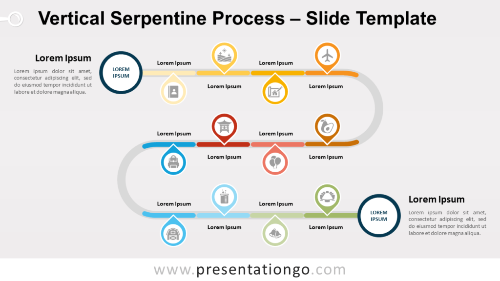 Free Vertical Serpentine Process for PowerPoint and Google Slides