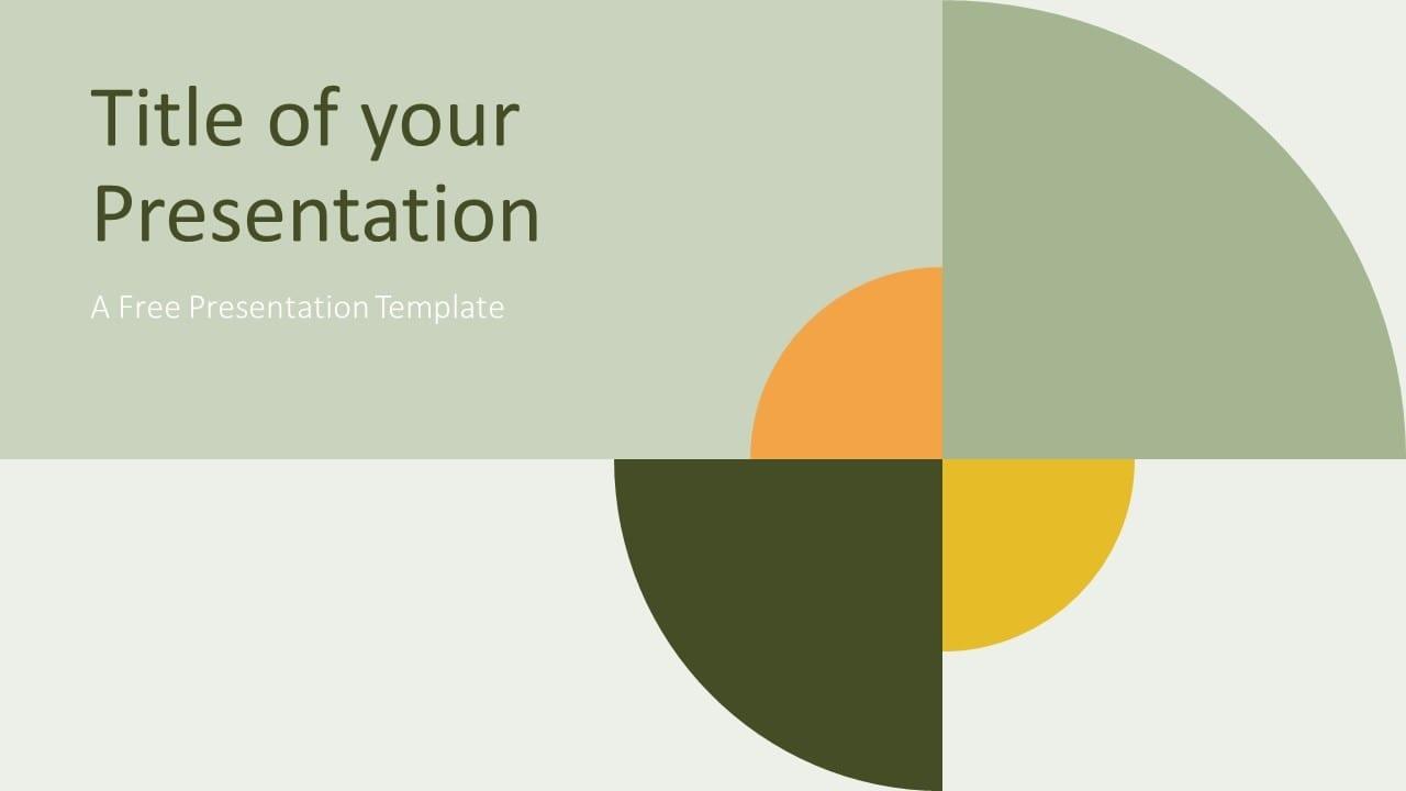 Free Quadrants Template for Google Slides - Cover Slide