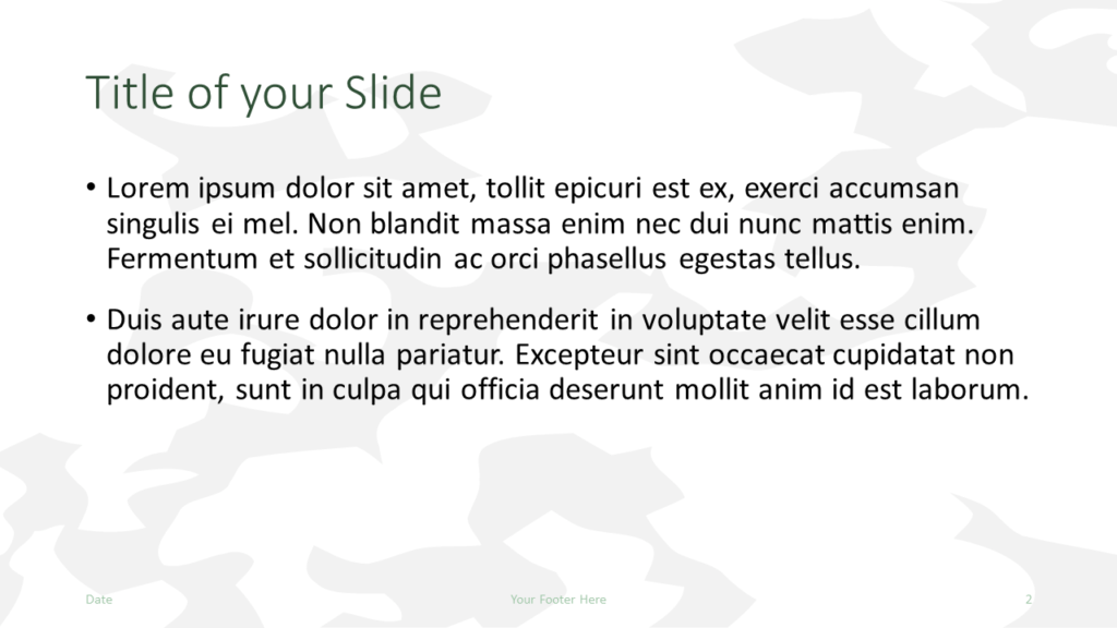 Free MILITARY Template for Google Slides – Title and Content Slide (Variant 1)