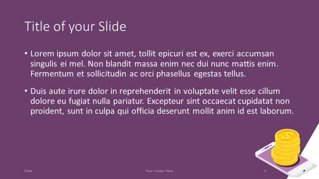 Free FINANCE Template for Google Slides – Title and Content Slide (Variant 2)