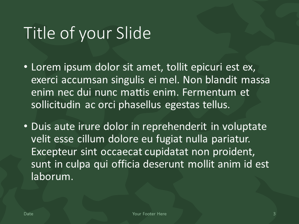 Free MILITARY Template for PowerPoint – Title and Content (Variant 2)