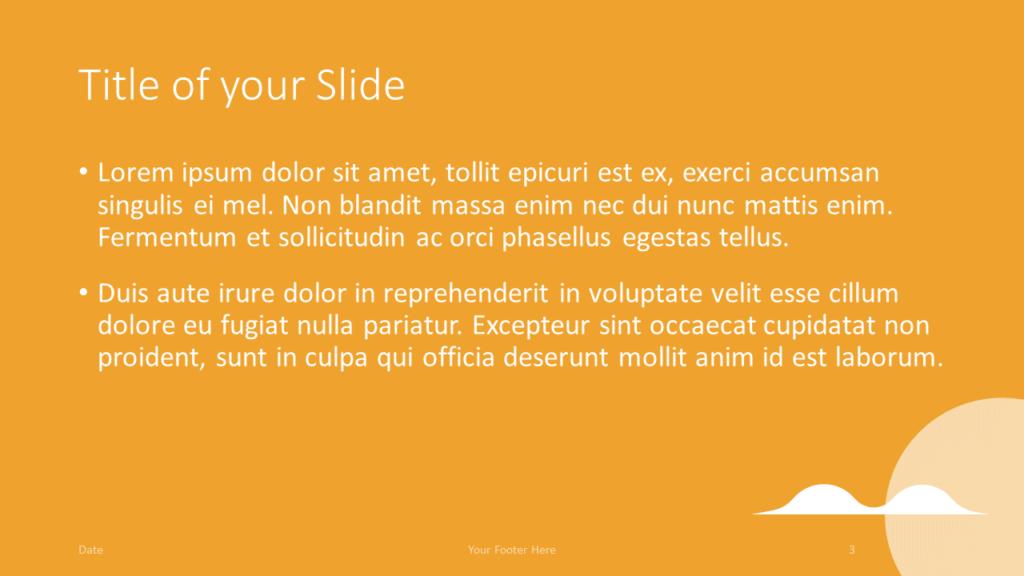 Free REALTOR Template for Google Slides – Title and Content Slide (Variant 2)