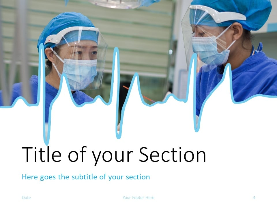 Free DOCTOR Template for PowerPoint – Section Slide (Variant 1)