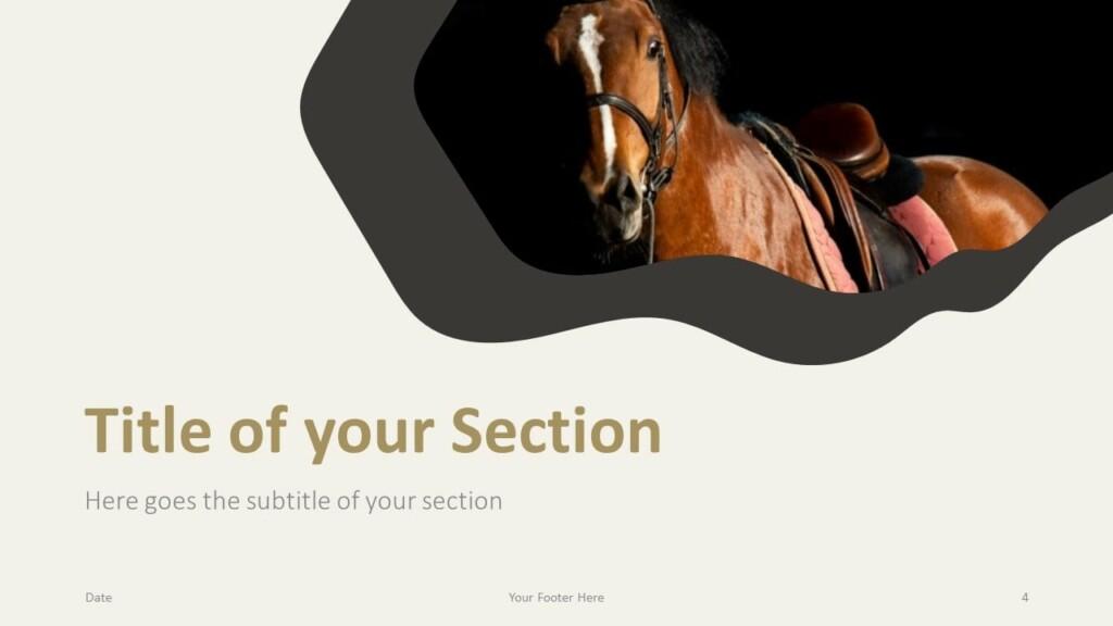 Free Horses Template for Google Slides – Section Slide (Variant 1)