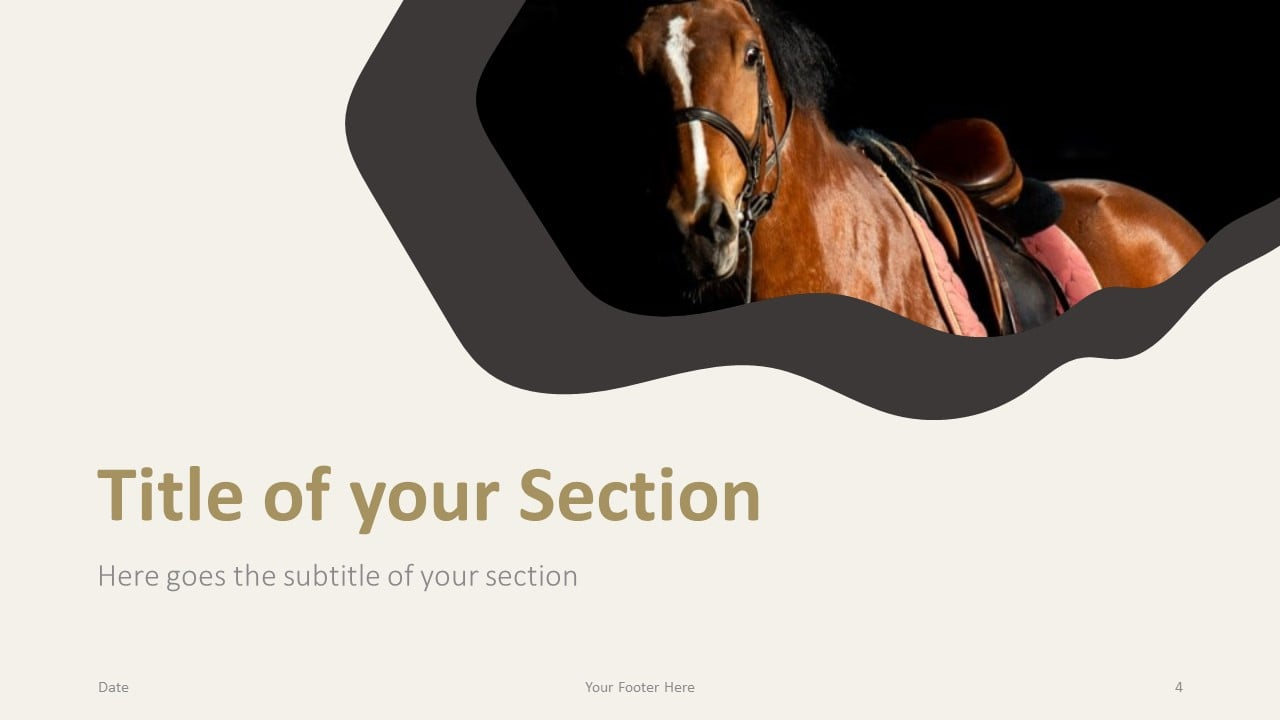 Free Horses Template for Google Slides – Section Slide (Variant 1)