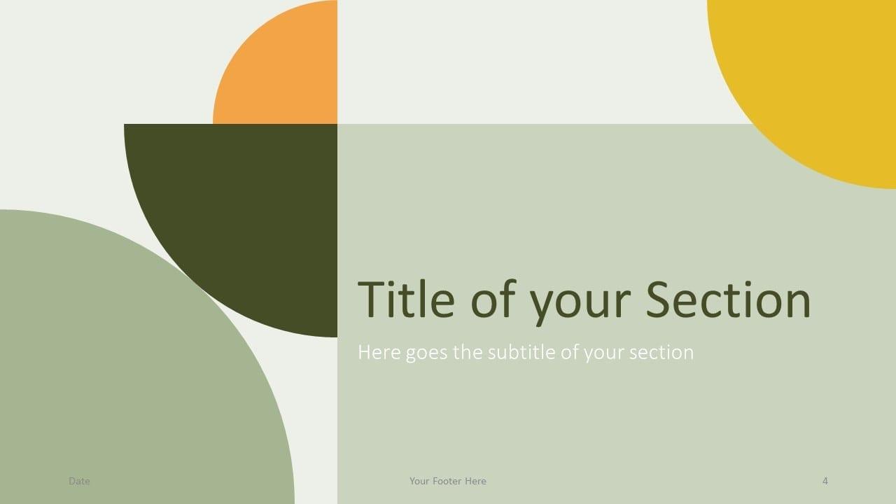 Free Quadrants Template for Google Slides – Section Slide (Variant 1)