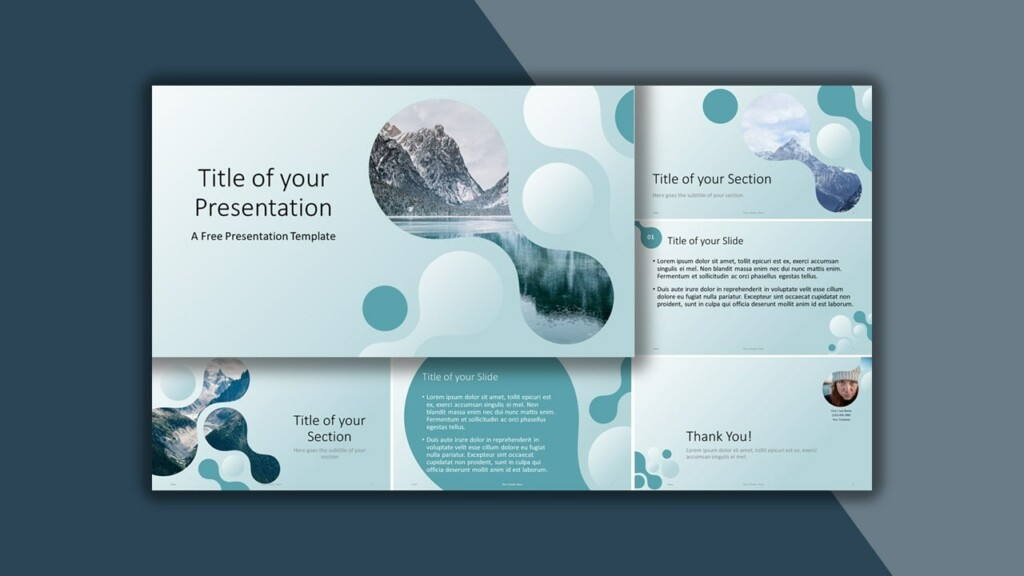 Free Blue Molecular Google Slides Theme and PowerPoint Template