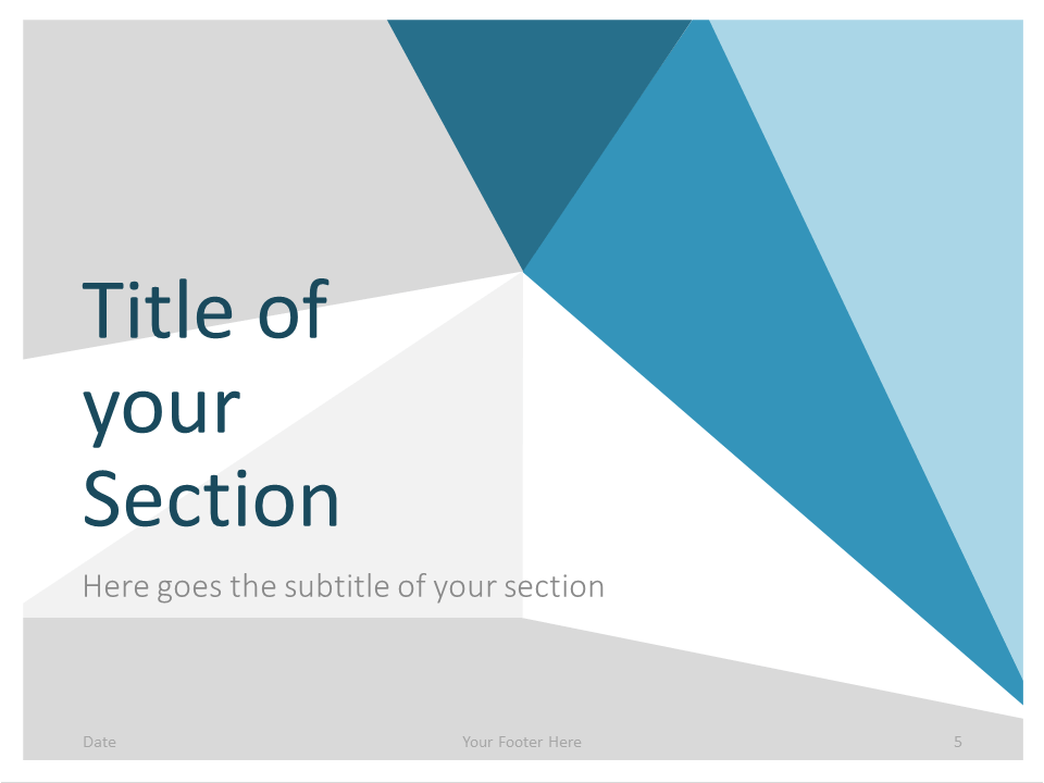 Free Abstract Origami Template for PowerPoint – Section Slide (Variant 2)