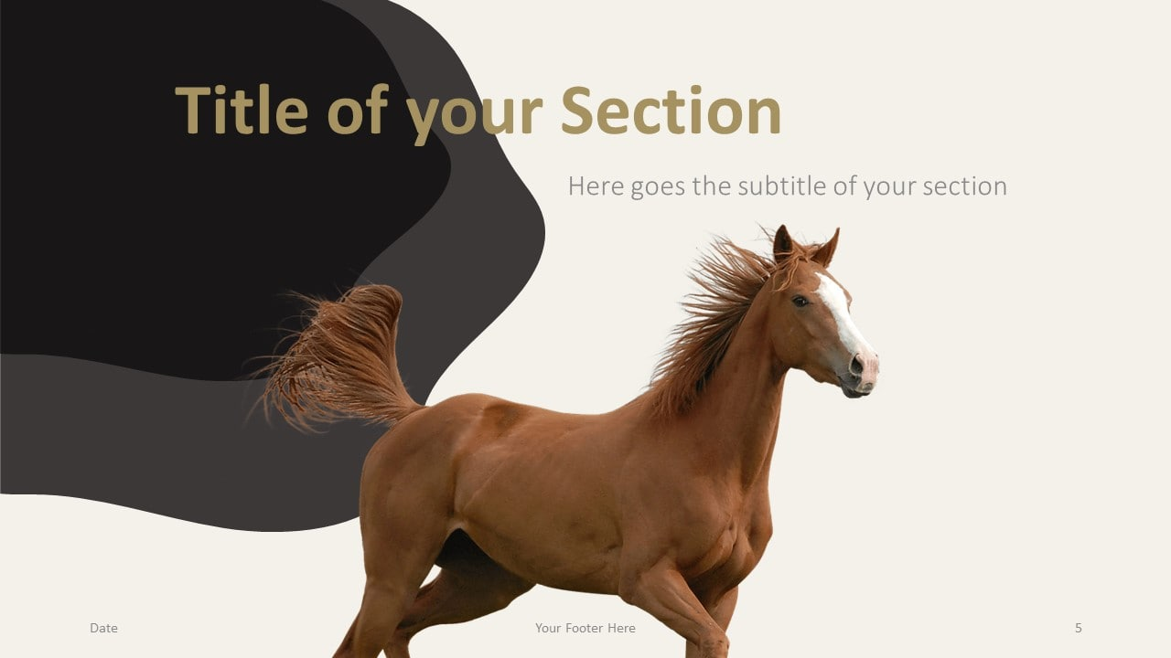 Free Horses Template for Google Slides – Section Slide (Variant 2)