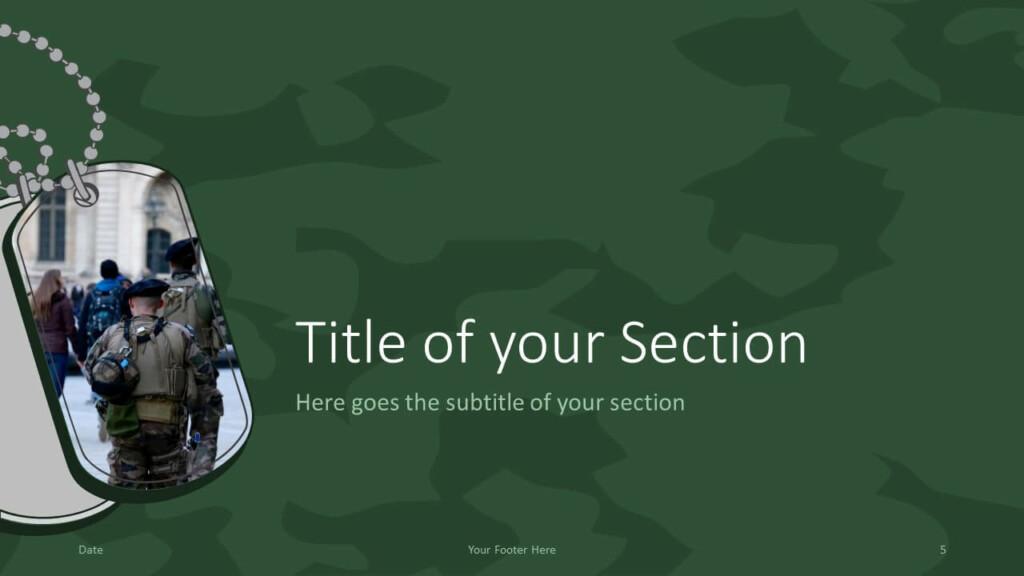 Free MILITARY Template for Google Slides – Section Slide (Variant 2)
