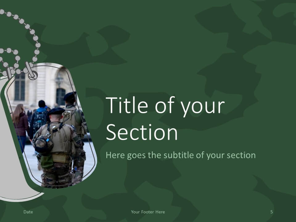 Free MILITARY Template for PowerPoint – Section Slide (Variant 2)