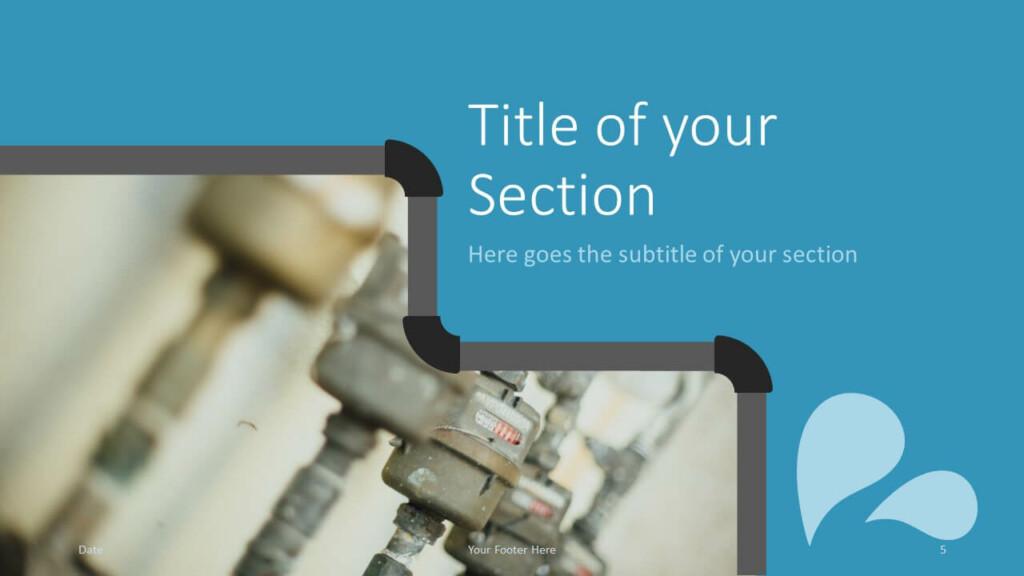 Free PLUMBER Template for Google Slides – Section Slide (Variant 2)