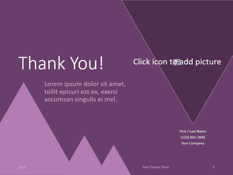 Free FINANCE Template for PowerPoint - Closing / Thank you