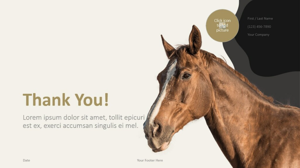 Free Horses Template for Google Slides - Closing / Thank you