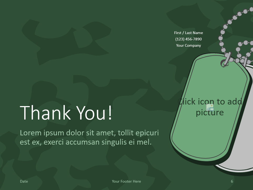 Free MILITARY Template for PowerPoint - Closing / Thank you