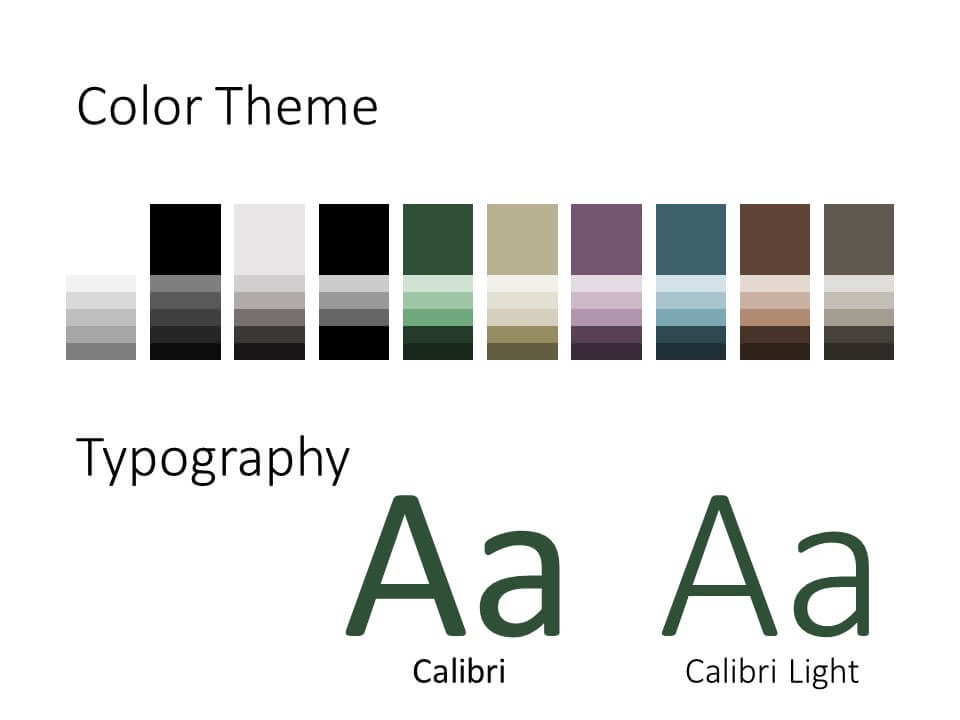 Free MILITARY Template for PowerPoint – Colors and Fonts