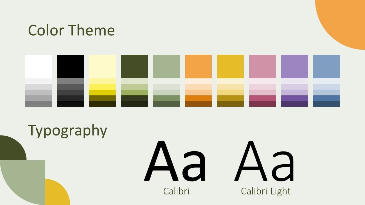 Free Quadrants Template for Google Slides – Colors and Fonts