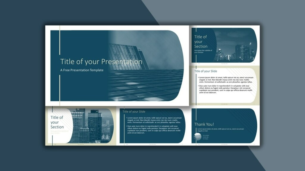 Free Blue Imperial Google Slides Theme and PowerPoint Template
