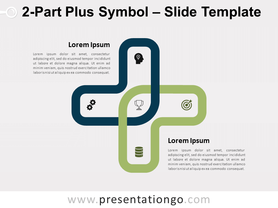 Free 2-Part Plus Symbol for PowerPoint