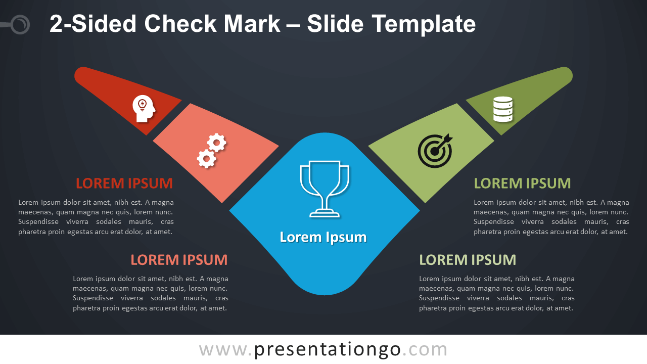 Free 2-Sided Check Mark Diagram for PowerPoint and Google Slides