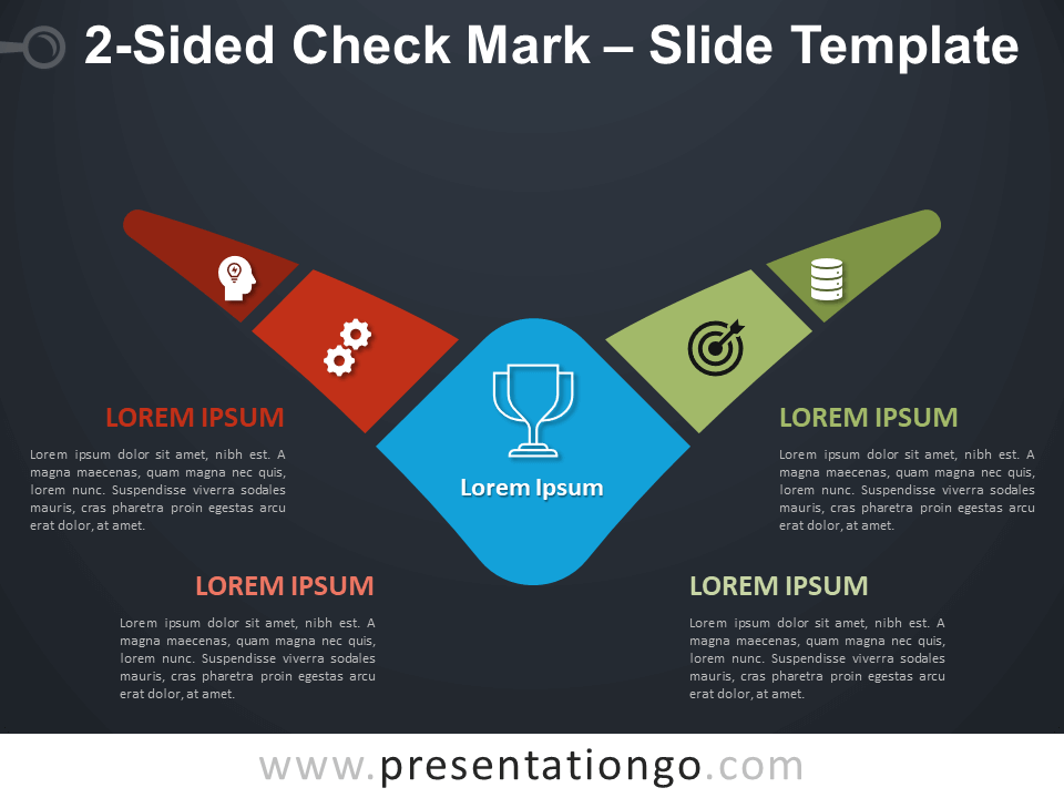 Free 2-Sided Check Mark Diagram for PowerPoint