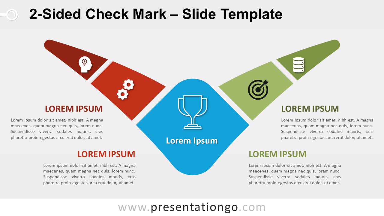 Free 2-Sided Check Mark for PowerPoint and Google Slides