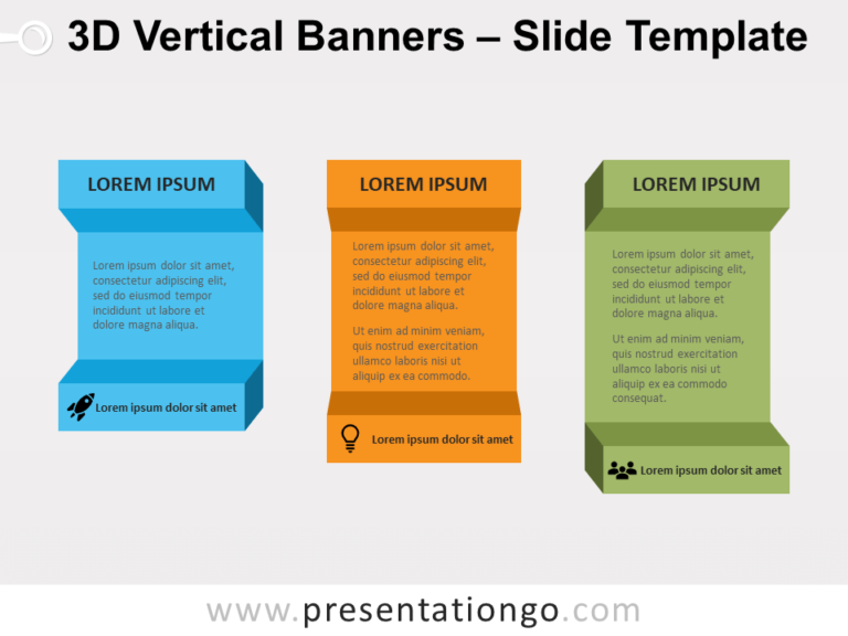 Free 3D Vertical Banners for PowerPoint