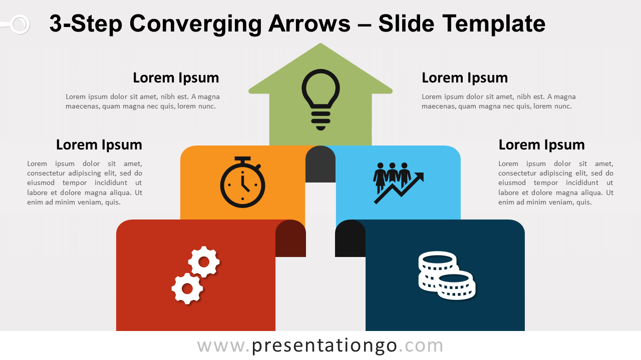 Free 3-Step Converging Arrows for PowerPoint and Google Slides