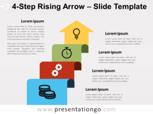 Free 4-Step Rising Arrow for PowerPoint