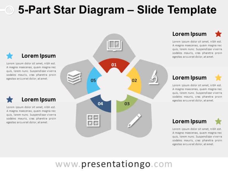 Free 5-Part Star Diagram for PowerPoint