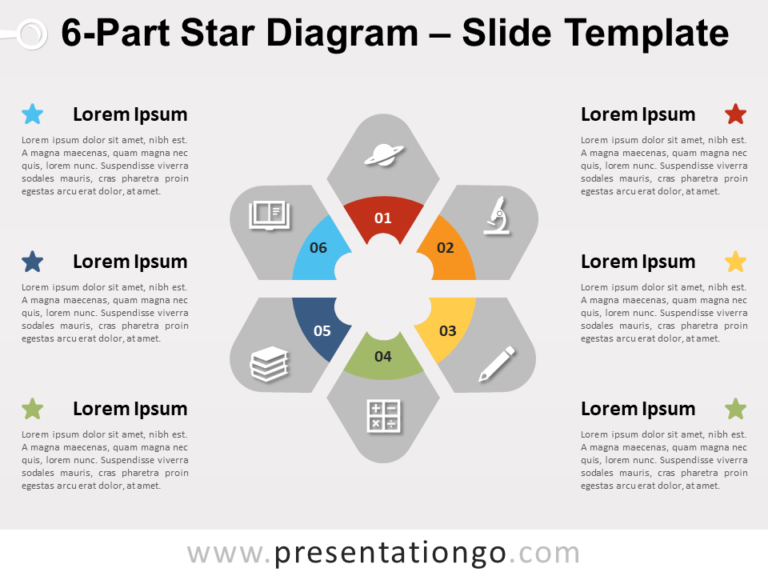 Free 6-Part Star Diagram for PowerPoint