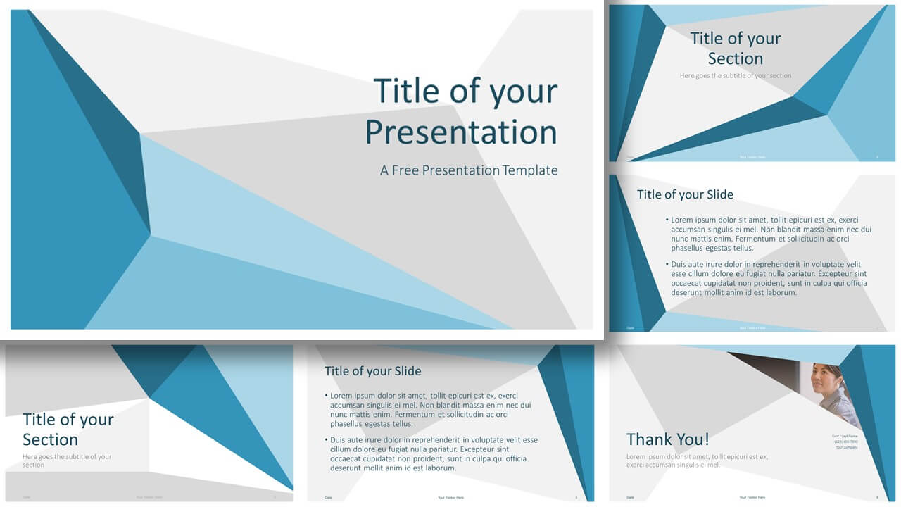 Free Abstract Origami Template for Google Slides and PowerPoint