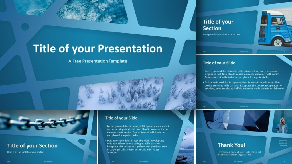 Free BLUE WEB Template for Google Slides and PowerPoint