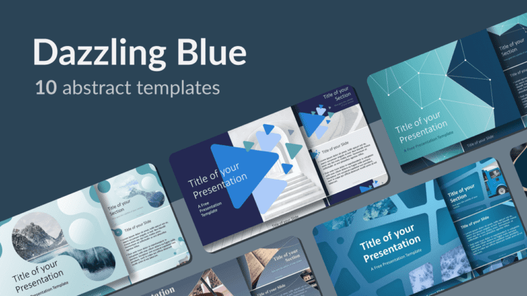Dazzling Blue Abstract PowerPoint and Google Slides Templates