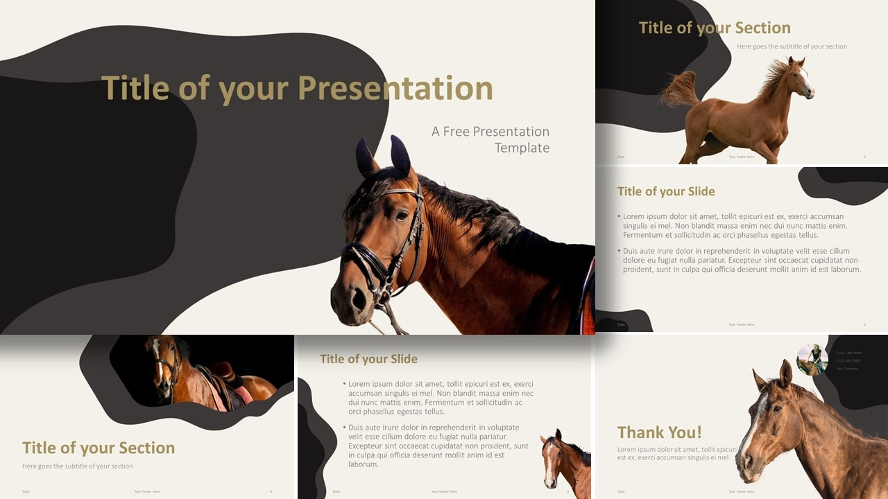 Free Horses Template for Google Slides and PowerPoint