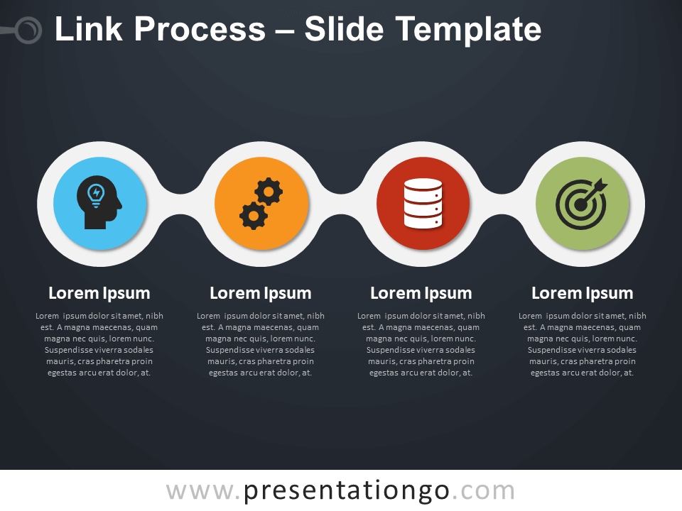 Free Link Process Infographic for PowerPoint