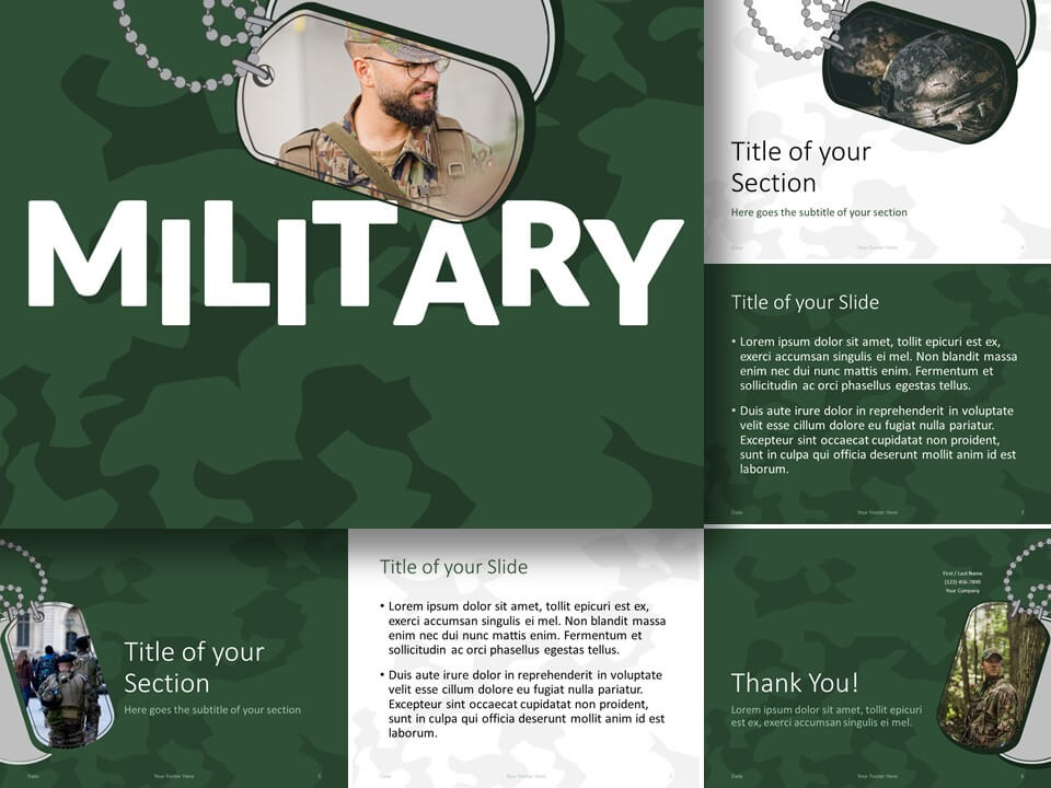 Free MILITARY Template for PowerPoint and Google Slides