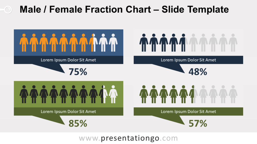 Free Male - Female Fraction for PowerPoint and Google Slides