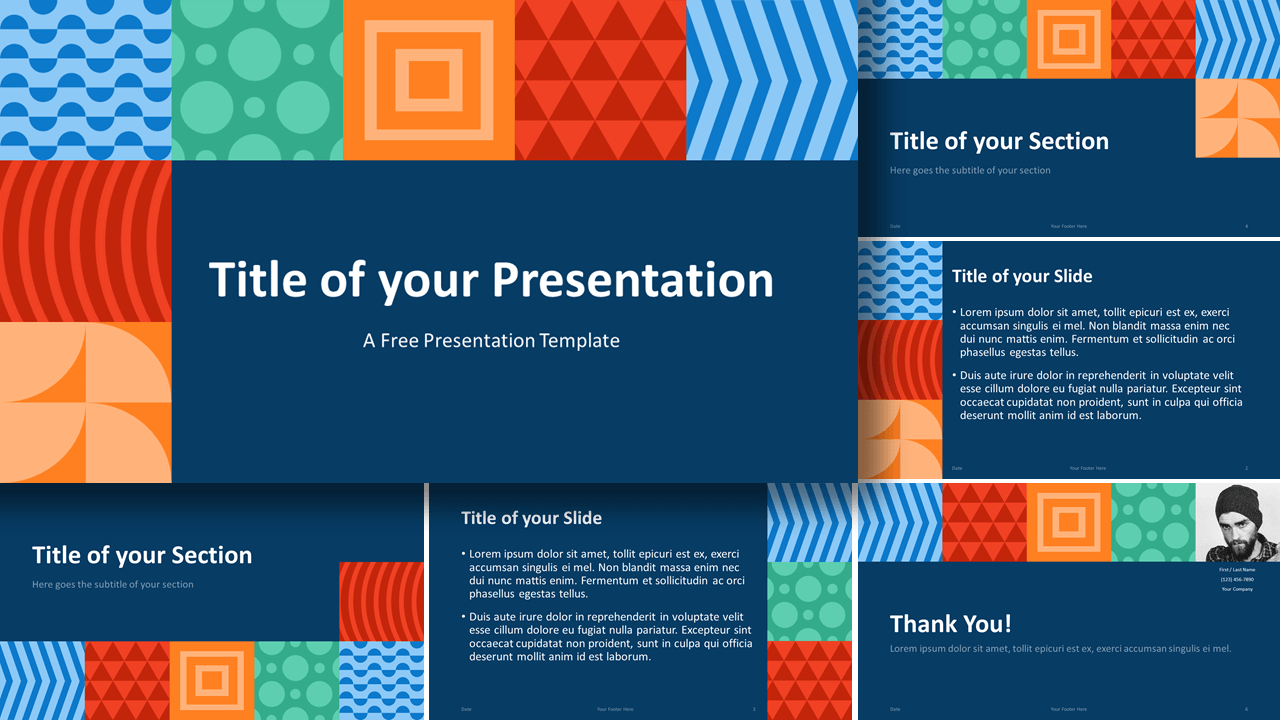 Free NEO GEOMETRIC Template for Google Slides and PowerPoint