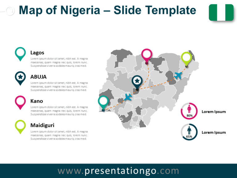Free Map of Nigeria for PowerPoint