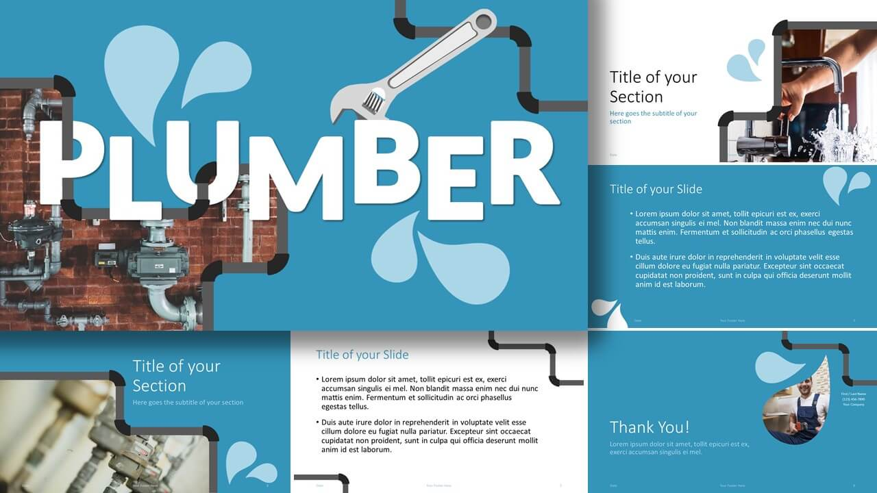 Free PLUMBER Template for Google Slides and PowerPoint