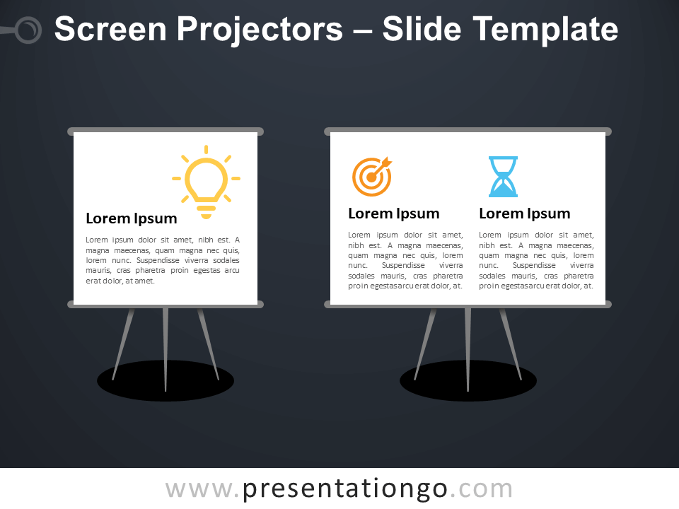 Free Screen Projectors Infographic for PowerPoint