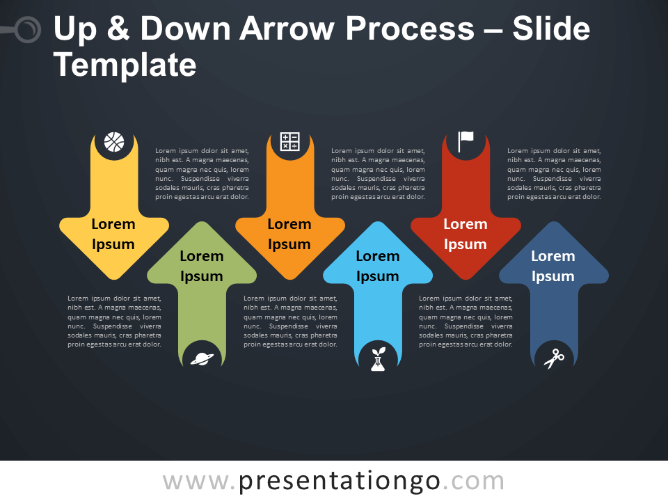 Free Up & Down Arrow Process Infographic for PowerPoint