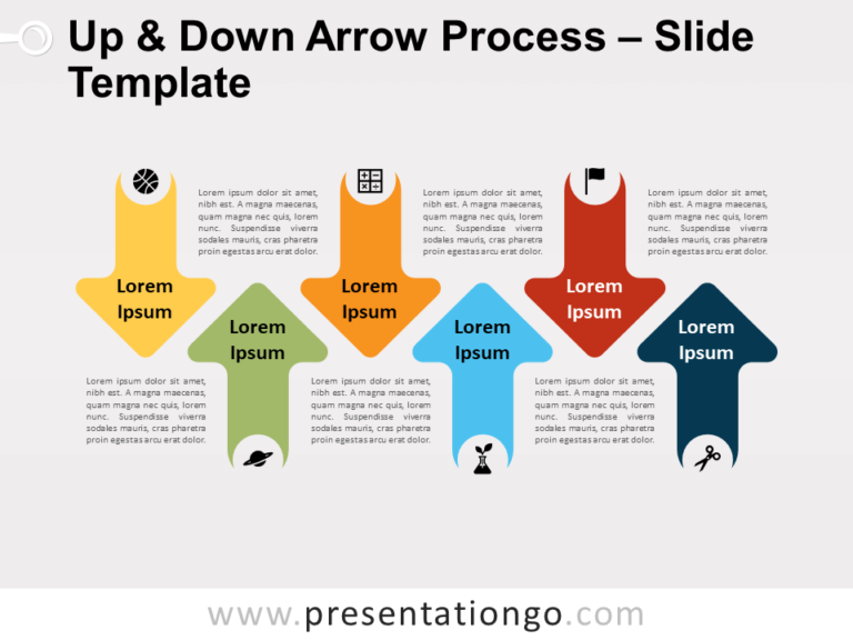 Free Up & Down Arrow Process for PowerPoint
