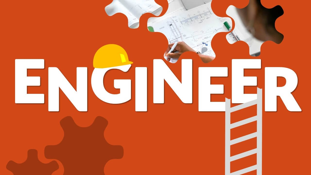 Free ENGINEER Template for Google Slides - Cover Slide
